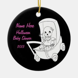 Girl Skeleton Baby Shower Ornament