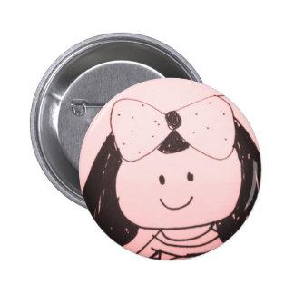 Girl sketch button