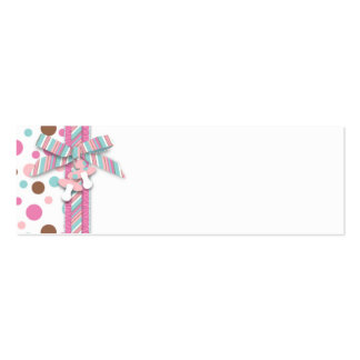Girl Skinny Gift Tag FP 2 Business Cards