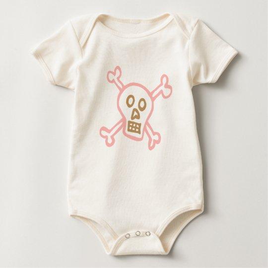 Girl Skull and Crossbones Baby Bodysuit