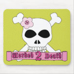 Girl Skull and Crossbones Mousepad