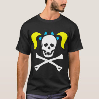 Girl Skull & Crossbones With Pigtails Dark Woman T-Shirt