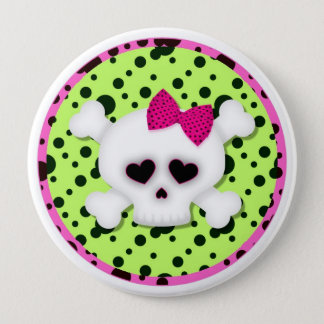 Girl Skull Grunge Backpack Pins buttons