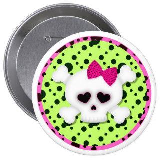 Girl Skull Grunge Backpack Pins buttons