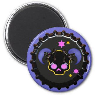Girl Skull School Locker magnet office magnet