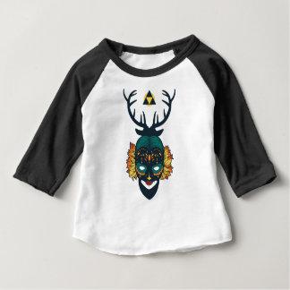 girl skull with deer antin baby T-Shirt