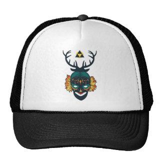 girl skull with deer antin trucker hat