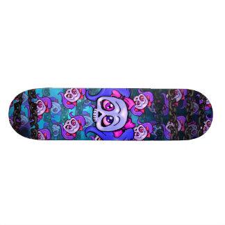 Girl Skulls and Chains Blue Skateboard