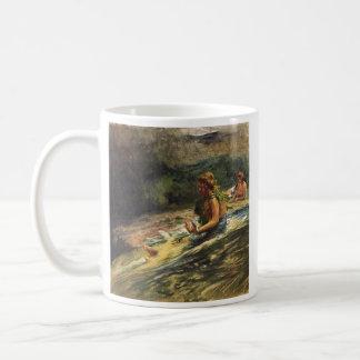 Girl Sliding Down Water Fall - John LaFarge Mug