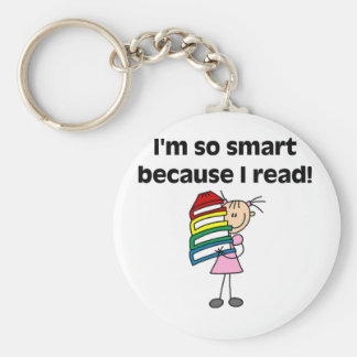 Girl Smart Because I Read Key Chain
