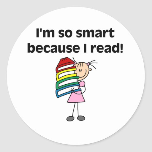 Girl Smart Because I Read Sticker
