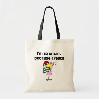 Girl Smart Because I Read Tote Bag