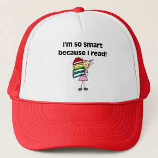 Girl Smart Because I Read Trucker Hat
