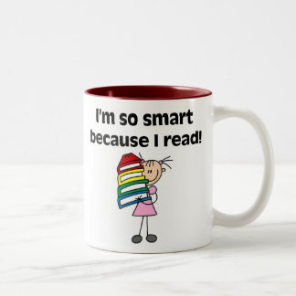Girl Smart Because I Read Two-Tone Coffee Mug