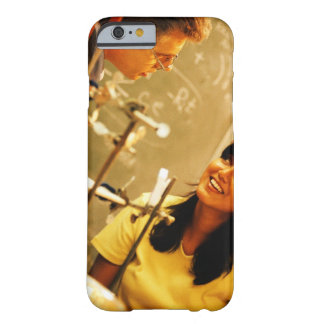 Girl smiling at teacher in chemistry lab barely there iPhone 6 case