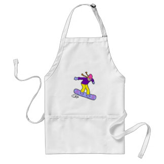 Girl Snowboarder Adult Apron
