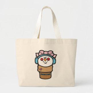 Girl Snowman Snow Cone Jumbo Tote Bag