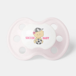 Girl Soccer Baby Pacifier - Pink