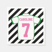 Girl Soccer Birthday Party Napkins