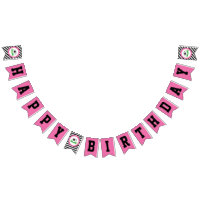 Girl Soccer Birthday Party Pennant Banner