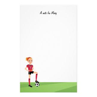 Girl Soccer Camp Stationery
