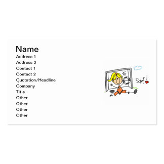 Girl Soccer Goal Keeper T-shirts and Gifts Double-Sided Standard Business Cards (Pack Of 100)