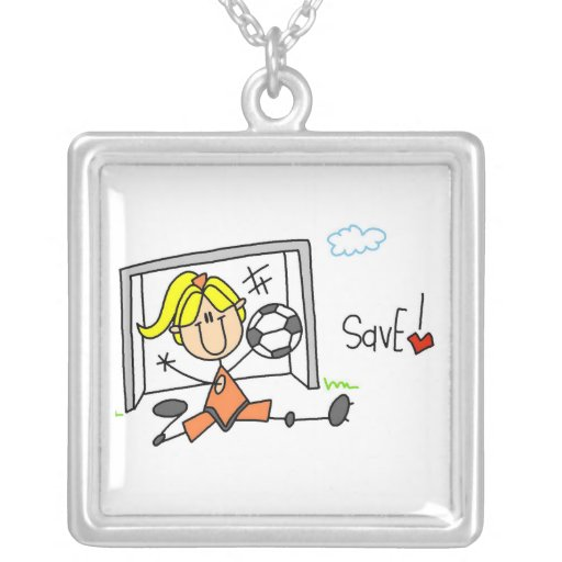 Girl Soccer Goal Keeper T-shirts and Gifts Pendants