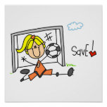 Girl Soccer Goal Keeper T-shirts and Gifts Print