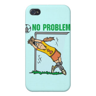 Girl Soccer Goalie and Gifts Case For iPhone 4