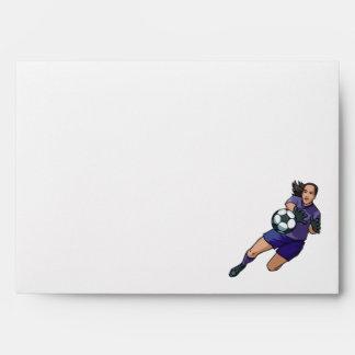 girl soccer goalie graphic envelope