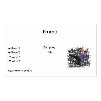 girl soccer goalie save business card templates