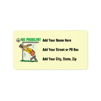 Girl Soccer Goalie T-shirts and Gifts Address Label