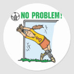 Girl Soccer Goalie Tshirts and Gifts Round Stickers