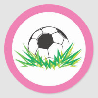 Girl Soccer Party Stickers