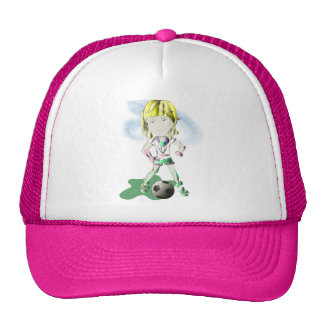 Girl Soccer Player Art Trucker Hat