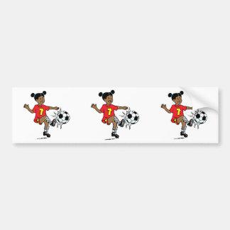 Girl Soccer Player Bumper Sticker