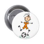 Girl Soccer Player Button