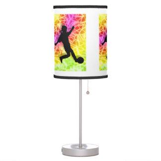 Girl Soccer Player Fluorescent  ANY COLOR BACKGRND Desk Lamps