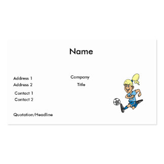 girl soccer player graphic business cards