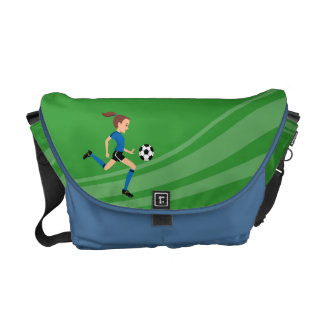 Girl Soccer Player Practice Bag