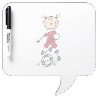 Girl Soccer Player Red Uniform Dry-Erase Board