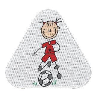 Girl Soccer Player Red Uniform Speaker