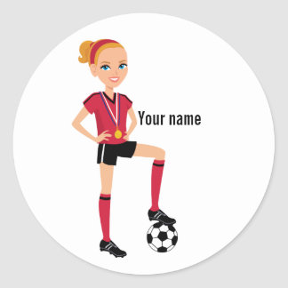 Girl Soccer Player Sticker