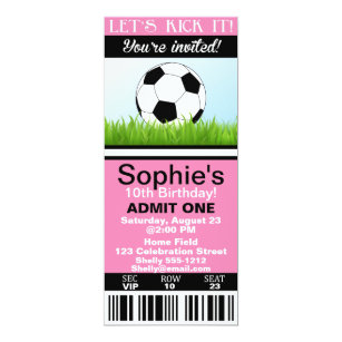 Admit One Birthday Invitations Announcements Zazzle