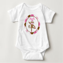 Girl Sock Monkey Baby T-Shirt
