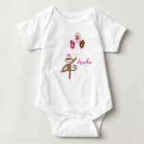 Girl Sock Monkey Birthday Baby T-Shirt