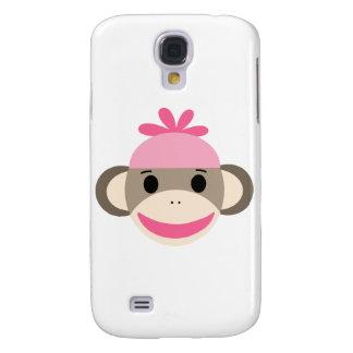 girl sock monkey galaxy s4 case