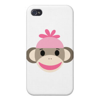 girl sock monkey cover for iPhone 4