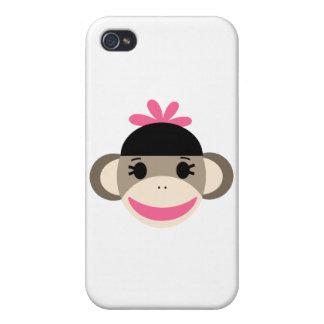 girl sock monkey cases for iPhone 4