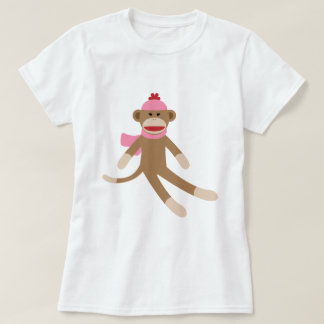 girl sock monkey shirt
